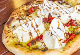 Pizza Pesto y Burrata (Pizza Blanca)