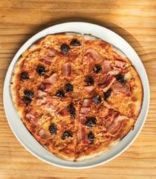 Promo Pizza Tocineta y Ciruelas