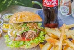 Combo Hamburguesa Doble Pulled Pork Burger