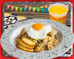 Desayuno Calentado de la Plaza + Jugo