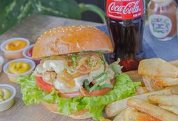 Combo Hamburguesa Doble Chicken Burger