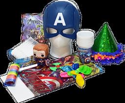 Kit cumpleaños Heroes Mascara Azul
