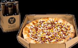 Pizza Chorizo Argentino, 4 Cervezas