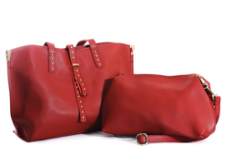 Bolso Kit Doble + Cartera Mediana Rojo