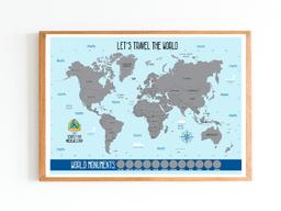 Mapa del mundo para raspar (sin marco)