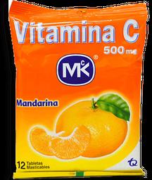 Vita C MK 500mg Mandarina Sin Zinc Sobre x 12 tabletas Vitamina