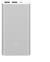 Batería Externa Xiaomi Original Power Bank 10000 mAh Plata