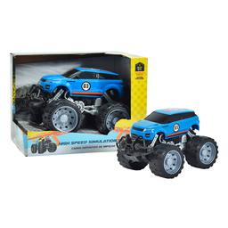 Carro Deportivo de Impulso Monster Azul 3+