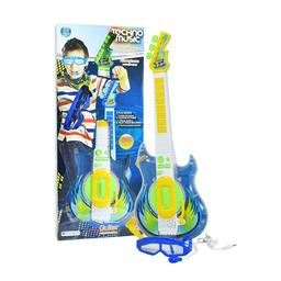 Guitarra con gafas - micrófono para niño Verde 3+