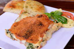 Cannelloni gratinados de ricotta y espinaca