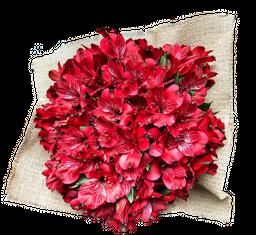 Bouquet de Alstros Rojas