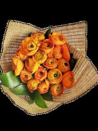 Bouquet de Ranúnculos Naranjas