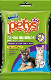 PETYS TOALLITAS PAÑITOS HUMEDOS PORTAB 10 UN
