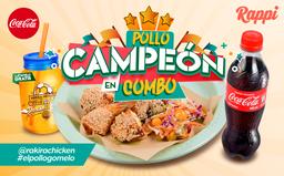 Pollo Campeón en Combo + Termo