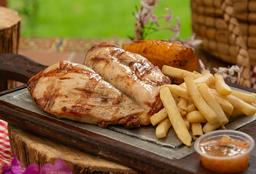 Plato de Pollo (pechuga) o Lomo o Chatas de Cerdo