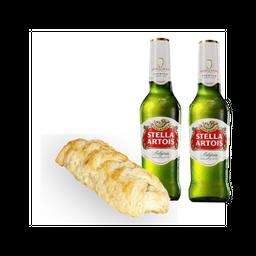 Trenzado de Carne + Stella Artois + (1 Cerveza gratis)