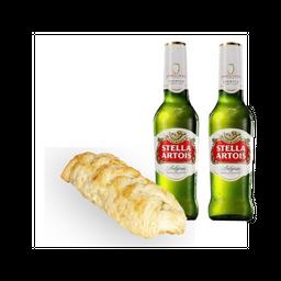 Trenzado de Pollo + Stella Artois + (1 Cerveza gratis)