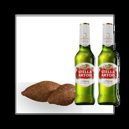 2 Quibbes + Stella Artois + (1 Cerveza gratis)
