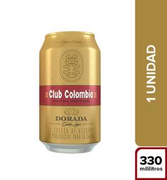Cerveza Nacional Premium Dorada - Club Colombia Lata 330 Cc