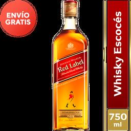 Whisky 8 Años Red Label - Johnnie Walker  Botella 750 Ml