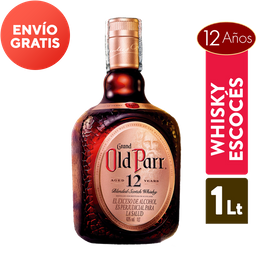 Whisky 12 Años - Old Parr - Botella 1000 Ml