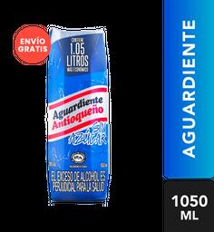 Aguardiente Antioqueño Azul Sin Azucar Tetra Extra  1050 Ml