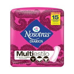 Protectores Diarios Nosotras Multiestilo  X 15Und