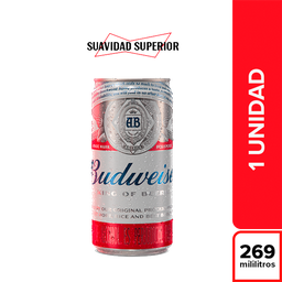 Cerveza Internacional - Budweiser Lata 269 Cc
