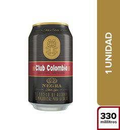 Cerveza Nacional Premium Club Colombia Negra Lata 330 Cc