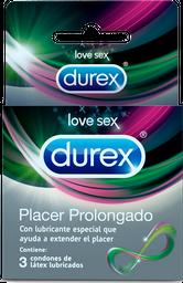 Durex Condón Placer Prolongado X3