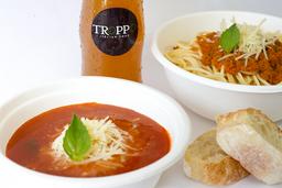 Combo Premium con Sopa (Pasta - Sopa - Bebida)