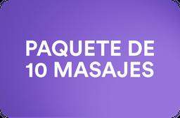 Paquete 10 masajes