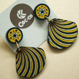 Aretes Conchas doradas De la Marea