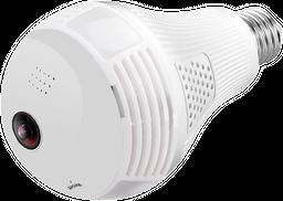 Bombillo Cámara con WiFi -Entrada Micro SD-Micrófono-Altavoz