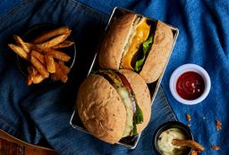 🍔2 Combo Hamburguesa de Res o Vegetarianos
