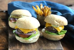 🍔3 Combos Hamburguesa de  Res o vegetarianos.