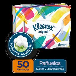Pañuelos Faciales en Caja Kleenex Orignal, 50 Uds