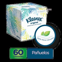Pañuelos Faciales en Cubo Kleenex Original, 60 Uds