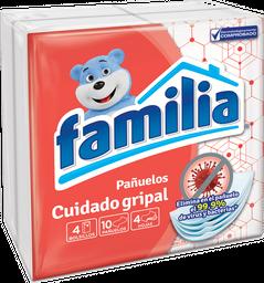 Pañuelos Familia Cuidado Gripal X 4 Paq De 10 Und
