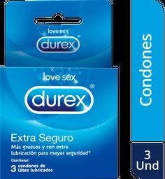 Condón Durex Extra Seguro x 3 unds