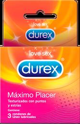 Condones Durex Máximo Placer x 3