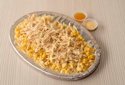 Mazorca con pollo desmenuzado