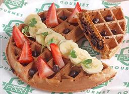 Waffle con Chips de Chocolate Semi Amargo