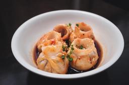 Sichuan Wontons Picantes de Cerdo y Maiz Dulce