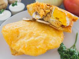 Arepa de Huevo, Pollo y Champiñón