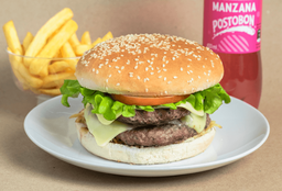 Hamburguesa Doble Carne Clásica
