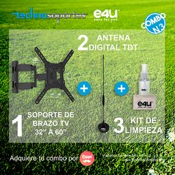 Combo Soporte Brazo + Antena TDT + Kit de Limpieza