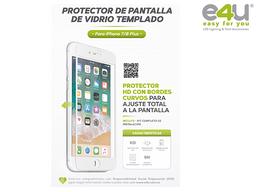 Vidrio Templado Iphone Plus 6/7/8 Blanco