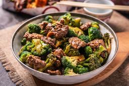 Lomo con Brócoli