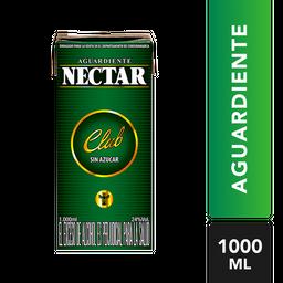 Aguardiente Sin Azúcar - Nectar Club Verde - Tetra Pak 1000 Ml
